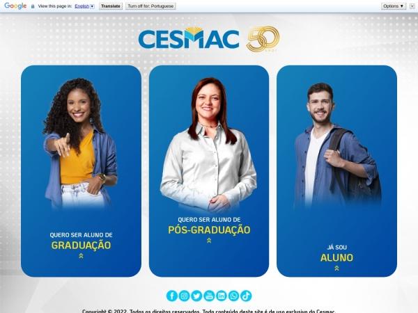 Screenshot of cesmac.edu.br