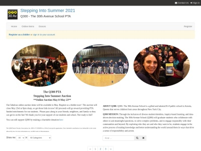 Screenshot of charityauction.bid