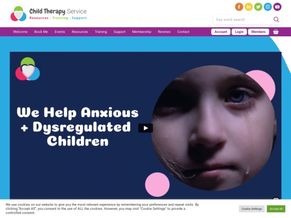 Screenshot of childtherapyservice.org.uk