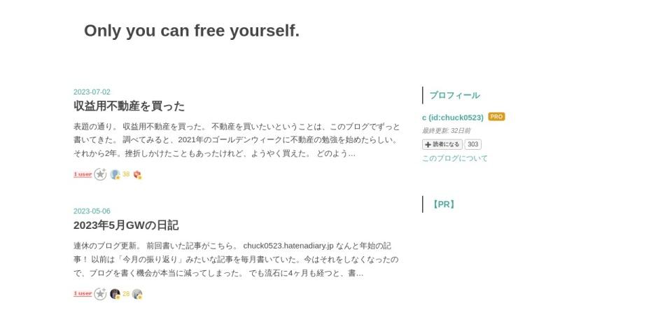 Screenshot of chuck0523.hatenadiary.jp