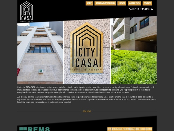 Screenshot of citycasa.remsimobiliare.ro