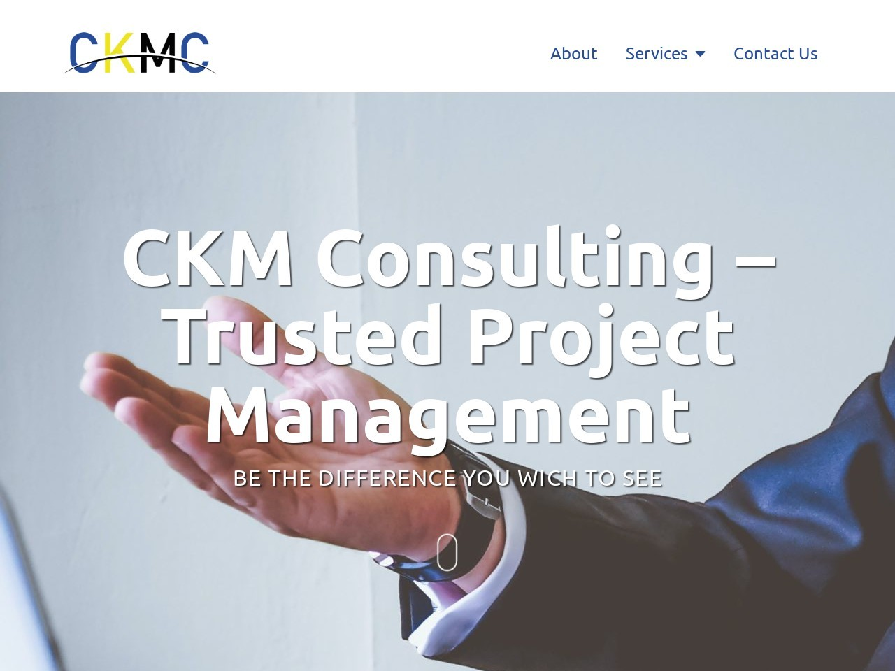 Screenshot of ckmconsulting.co.za