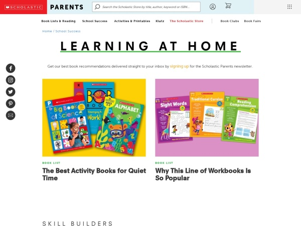 Screenshot of classroommagazines.scholastic.com
