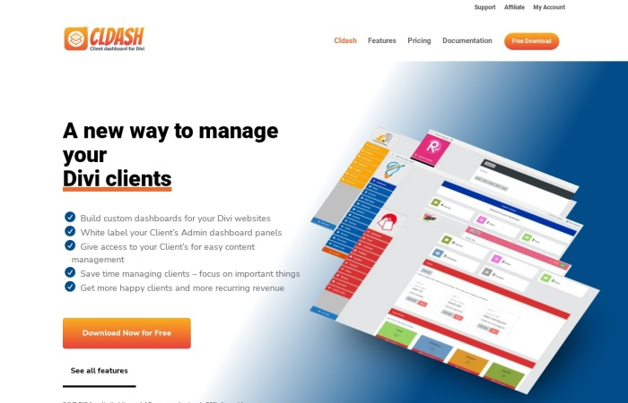 Screenshot of cldash.com