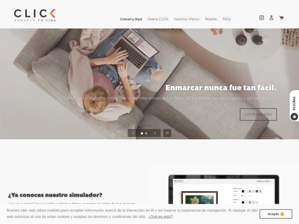 Captura de pantalla de clickmarqueteria.com