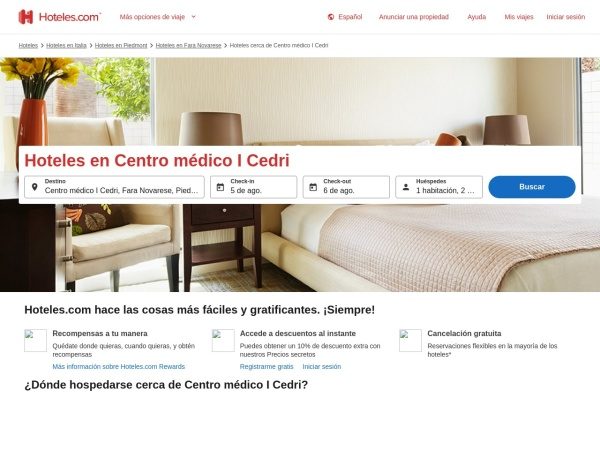Captura de pantalla de co.hoteles.com