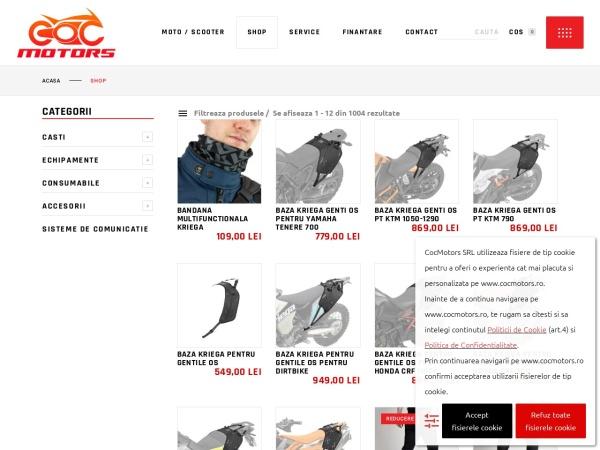 Screenshot of cocmotors.ro