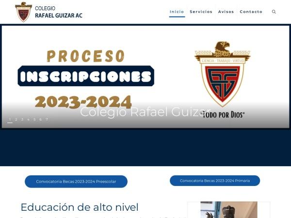 Captura de pantalla de colegiorafaelguizar.com.mx