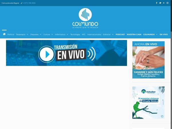 Captura de pantalla de colmundoradio.com.co