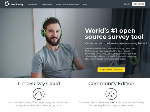 Screenshot von community.limesurvey.org