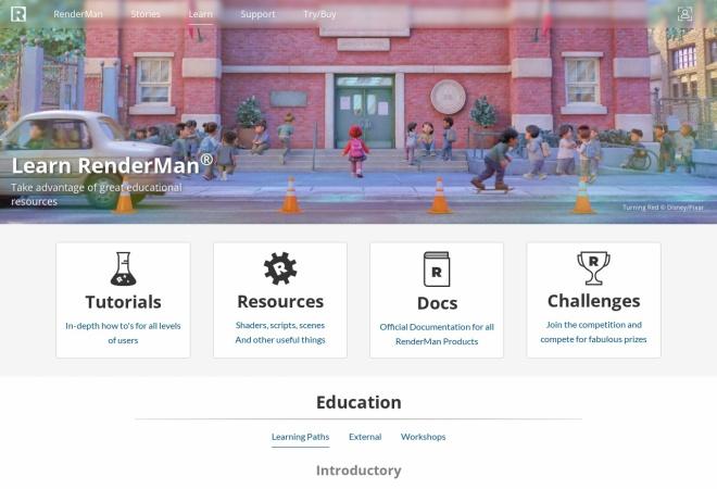 Screenshot of community.renderman.pixar.com