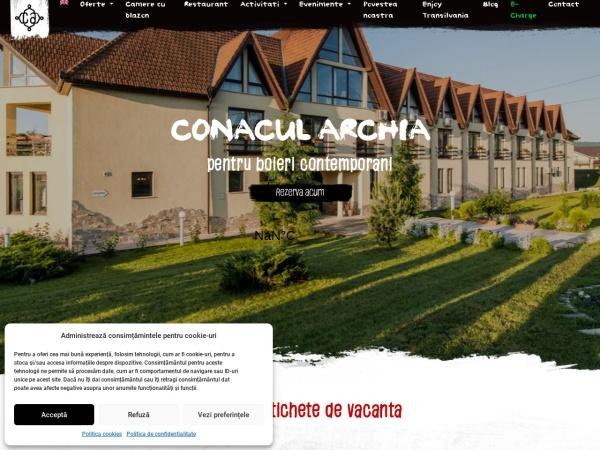 Screenshot of conacularchia.ro