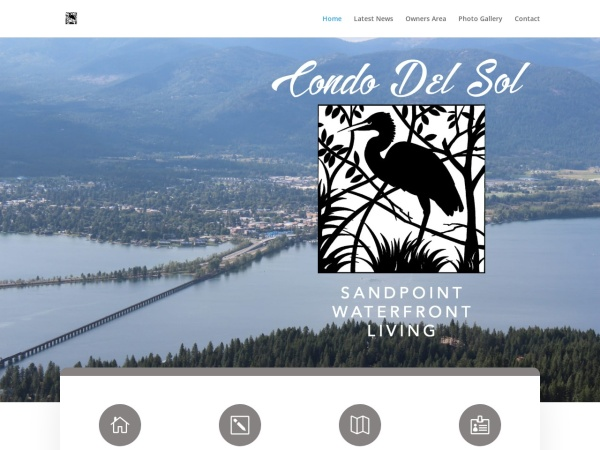 Screenshot of condosatsandpoint.com
