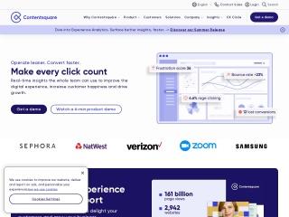 Screenshot of contentsquare.com