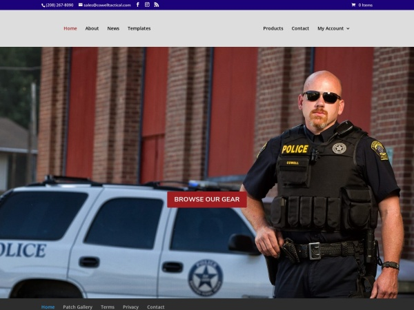 Screenshot of cowelltactical.com