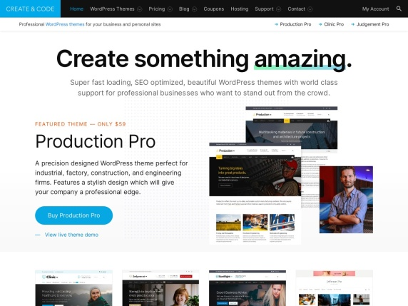 Create  and  Code homepage