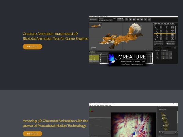Screenshot of creature.kestrelmoon.com