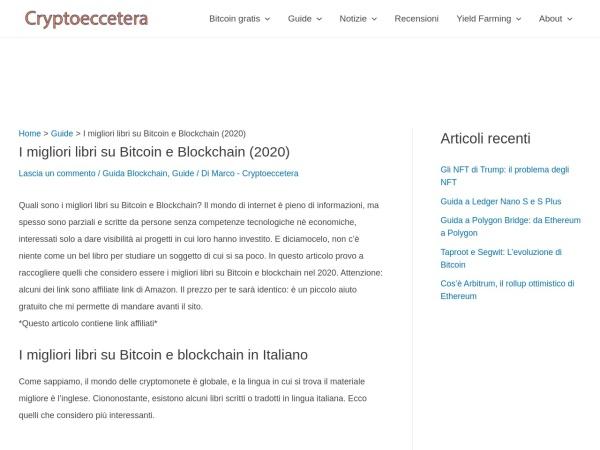 Screenshot of cryptoeccetera.com