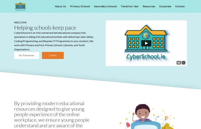 Screenshot of cyberschool.ie