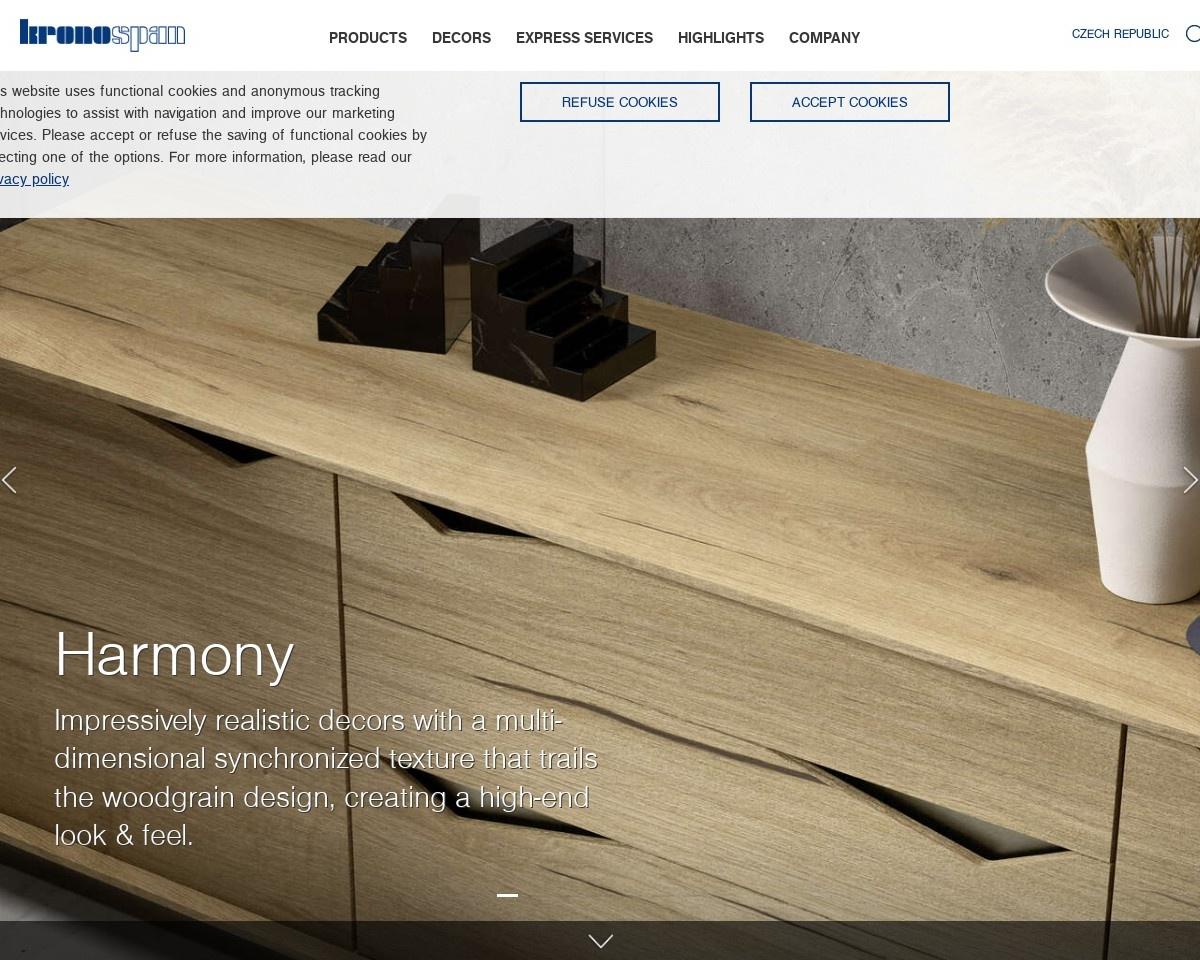 Screenshot of cz.kronospan-express.com