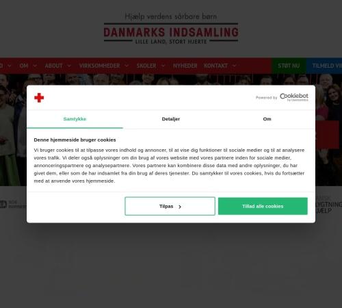 Screenshot of danmarksindsamling.dk