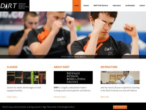 Screenshot of dart-selfdefence.com