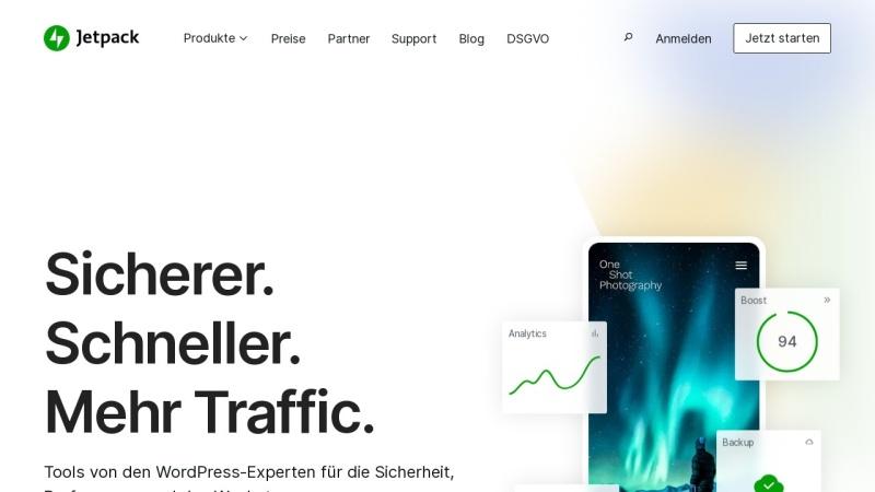 Screenshot von de.jetpack.com