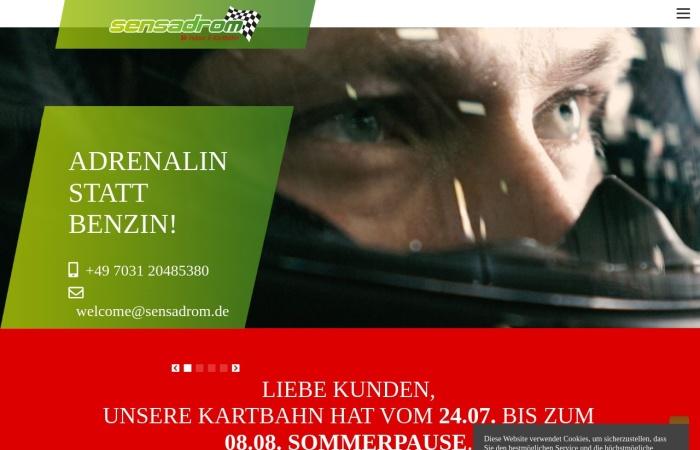 Screenshot von de.sensadrom.com