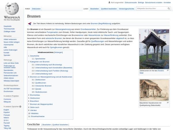 Screenshot von de.wikipedia.org