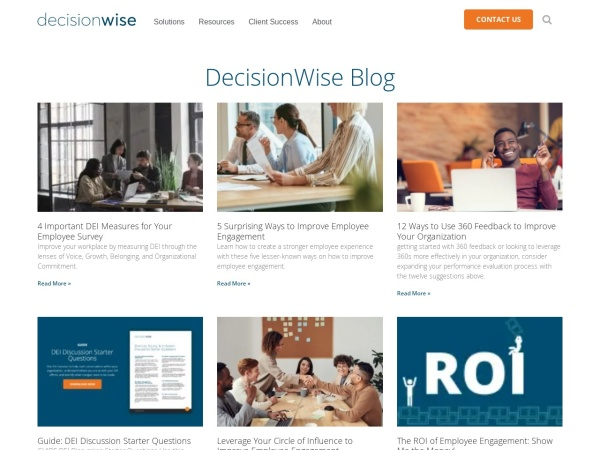 DecisionWise Blog Screenshot
