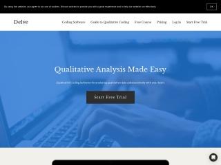 Screenshot of delvetool.com