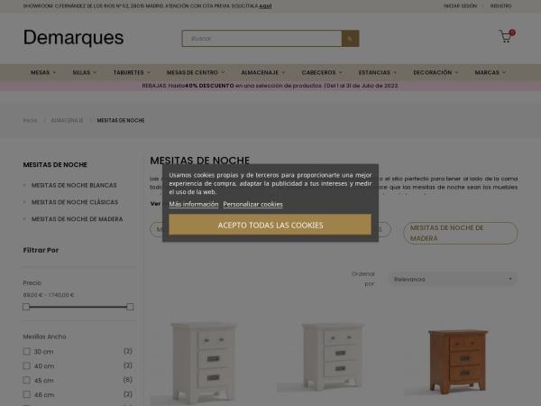 Captura de pantalla de demarques.es