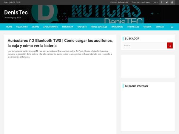 Captura de pantalla de denistec.com