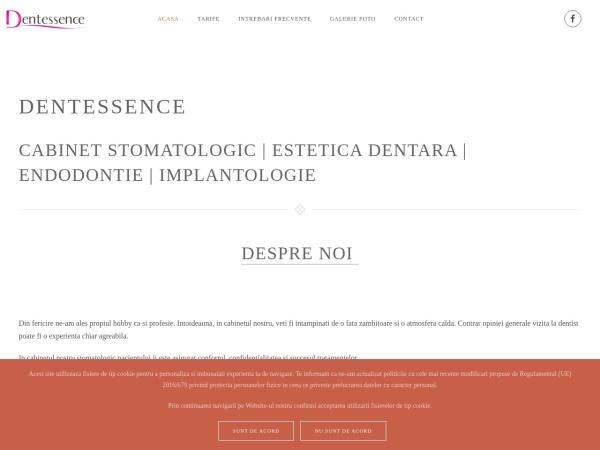 Screenshot of dentessence.ro