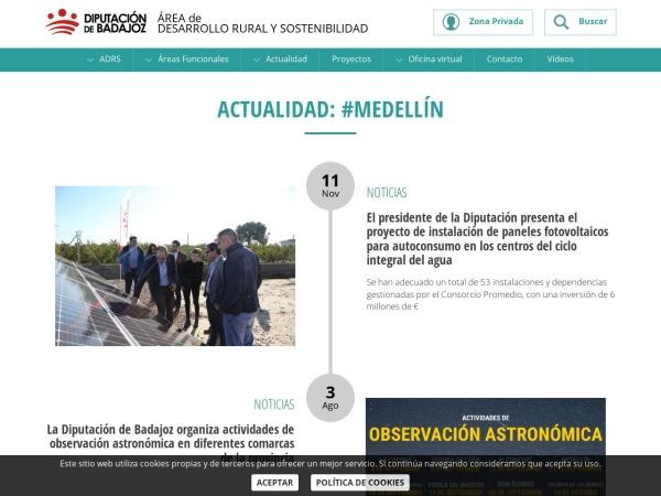 Captura de pantalla de desarrolloruralysostenibilidad.dip-badajoz.es