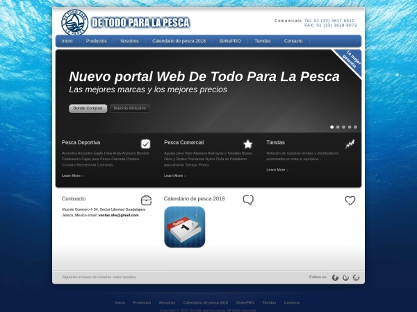 Captura de pantalla de detodoparalapesca.com