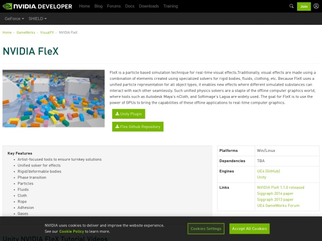 https://developer.nvidia.com/physx-flex