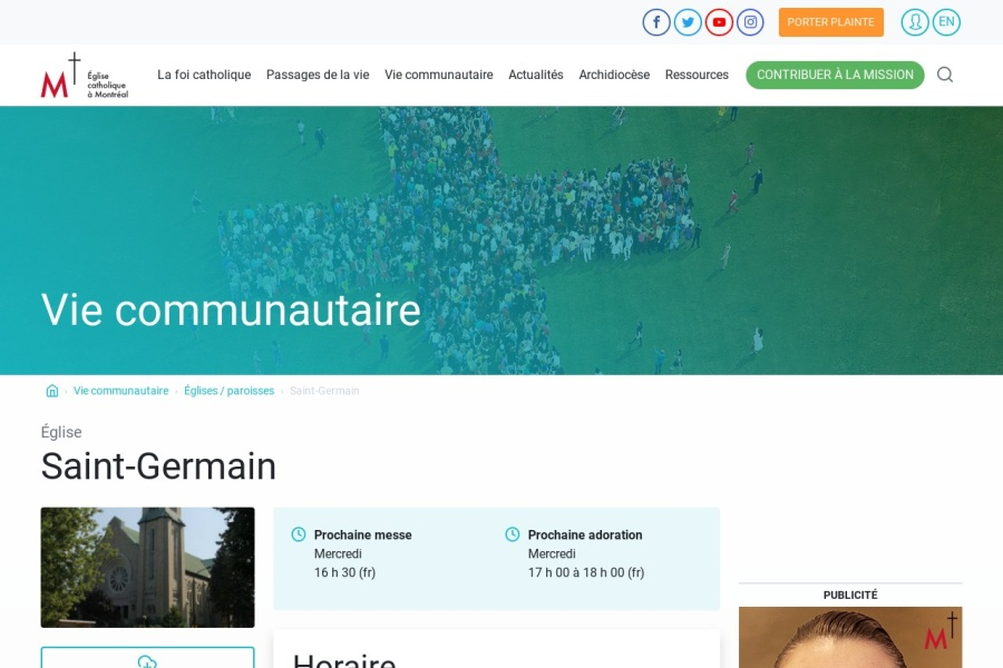 Screenshot of diocesemontreal.org
