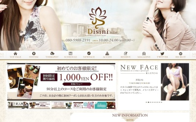 Screenshot of disini.jp