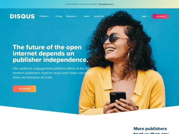 Screenshot von disqus.com