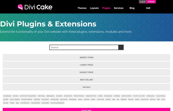 Screenshot of divicake.com
