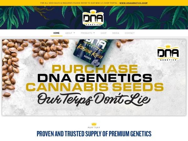Screenshot of dnagenetics.com