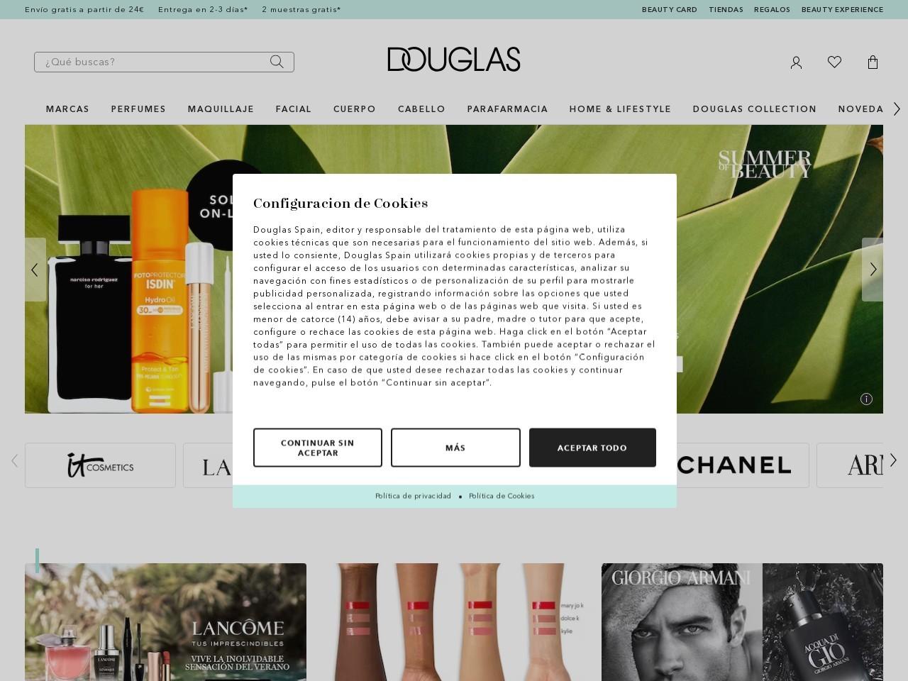 Captura de pantalla de douglas.es