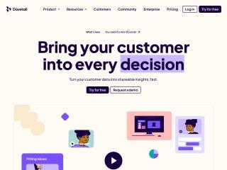 Screenshot of dovetailapp.com