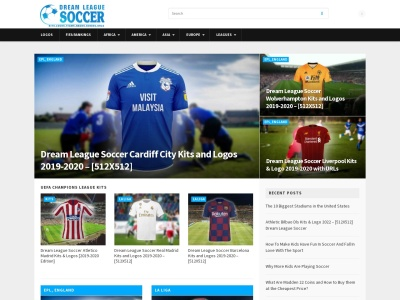 Screenshot of dreamleaguesoccerkitss.com