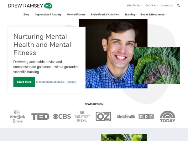 Screenshot of drewramseymd.com