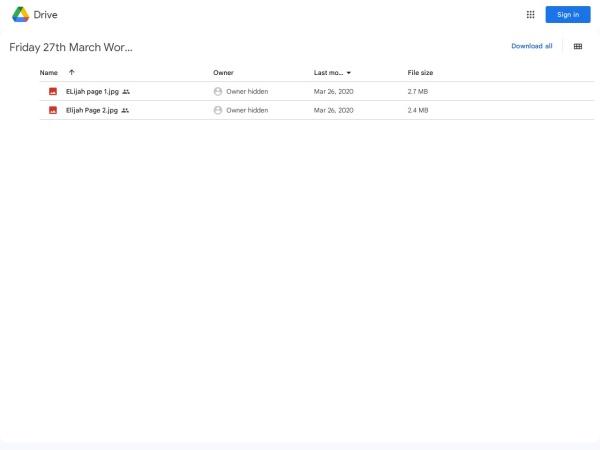 Screenshot of drive.google.com
