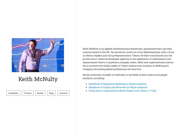 Keith McNulty Screenshot