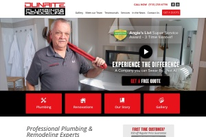 Screenshot of dunriteplumbing.com