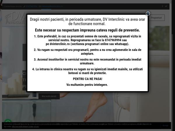Screenshot of dvinterclinic.ro